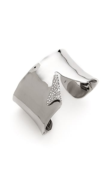 Alexis Bittar Torn Pave Crystal Cuff Bracelet