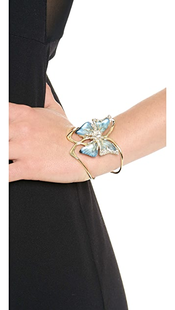 Alexis Bittar Hand Stenciled Butterfly Cuff Bracelet