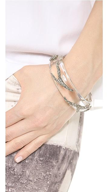 Alexis Bittar Crystal Pave Vine Hinge Bracelet