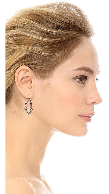 Alexis Bittar Jagged Edge Crystal Framed Dangle Earrings