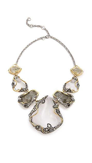 Alexis Bittar Vine Draped Pebble Bib Necklace
