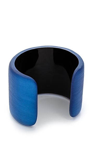 Alexis Bittar Liquid Metal Edge Cuff Bracelet