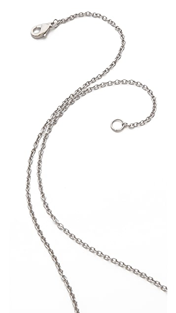 Alexis Bittar Liquid Metal Double Cresent Pendant Necklace