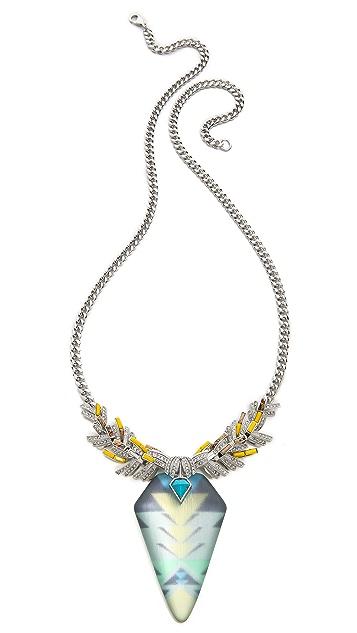 Alexis Bittar Wreathed Flint Pendant Necklace