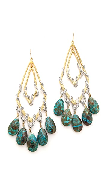 Alexis Bittar Orbiting Tear Vine Earrings