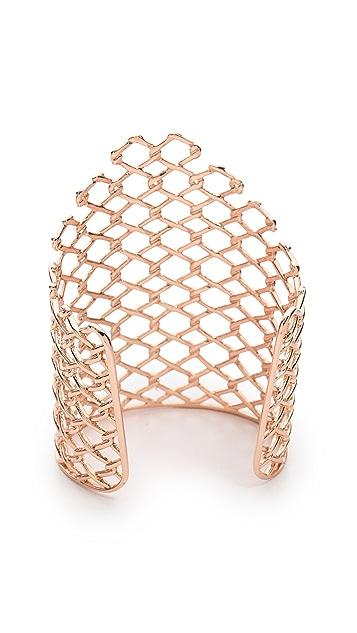 Alexis Bittar Barber Linked Cuff Bracelet