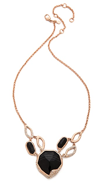 Alexis Bittar Multi Link Banded Agate Pendant Necklace
