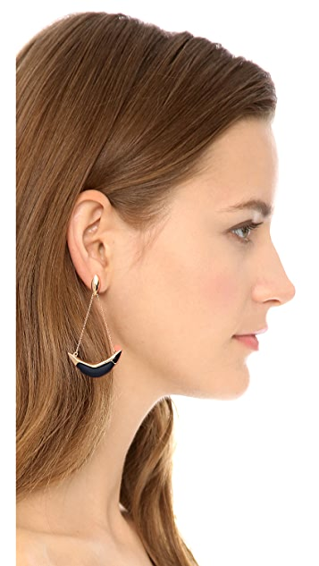 Alexis Bittar Liquid Suspended Cresent Earrings