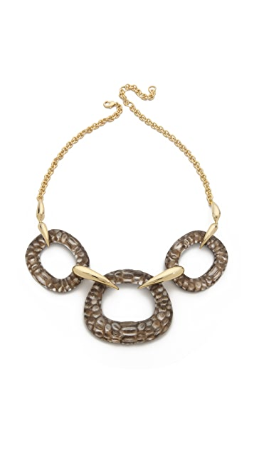 Alexis Bittar Crocodile Textured Bib Necklace