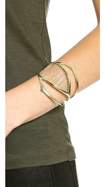 Alexis Bittar Chain Ribbed Cuff Bracelet