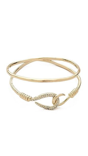 Alexis Bittar Orbiting Hook Bangle Bracelet