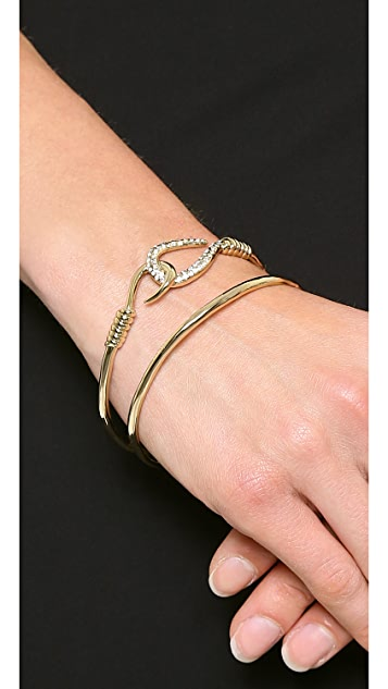 Alexis Bittar Orbiting Hook Bangle Bracelet