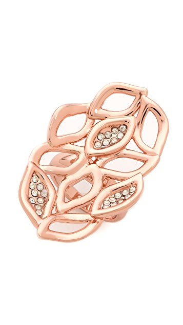 Alexis Bittar Crystal Watery Link Ring