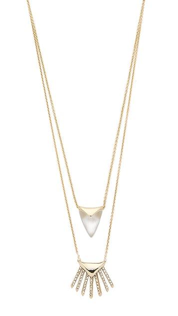 Alexis Bittar Double Fringe Pendant Necklace