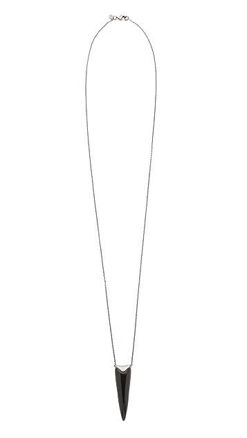 Alexis Bittar Liquid Metal Spear Pendant Necklace