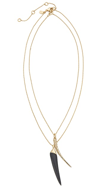 Alexis Bittar Encrusted Spear Necklace Set
