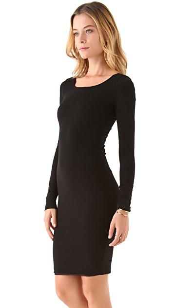 AIR by alice + olivia Long Sleeve Mesh Back Dress