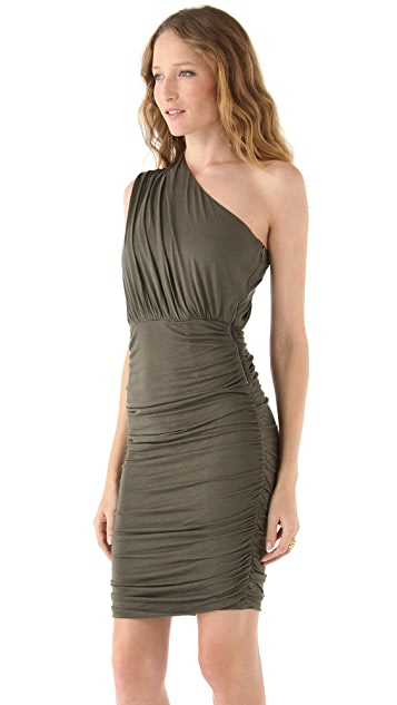 AIR by alice + olivia One Shoulder Gathered Dress