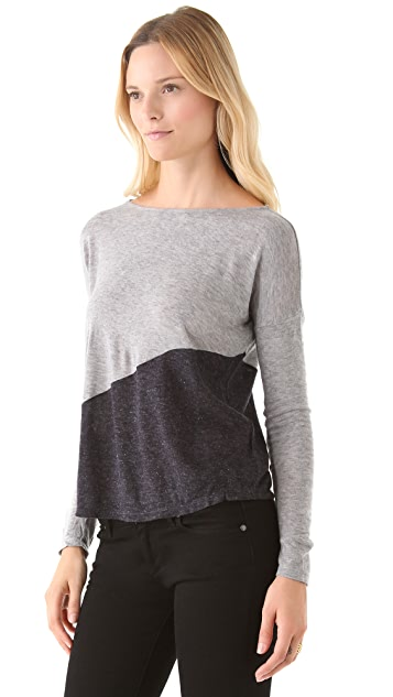 AIR by alice + olivia Dropped Shoulder Top
