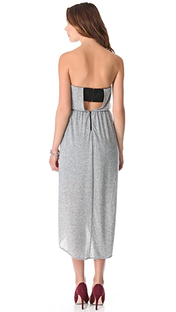 AIR by alice + olivia Strapless Tulip Skirt Dress
