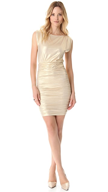 AIR by alice + olivia Draped Jersey Dress