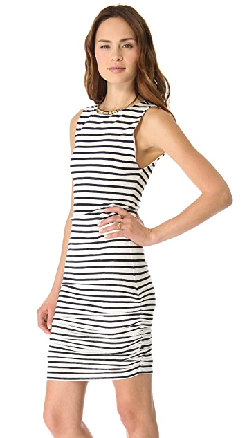 AIR by alice + olivia Ruched Stripe Tank Dress