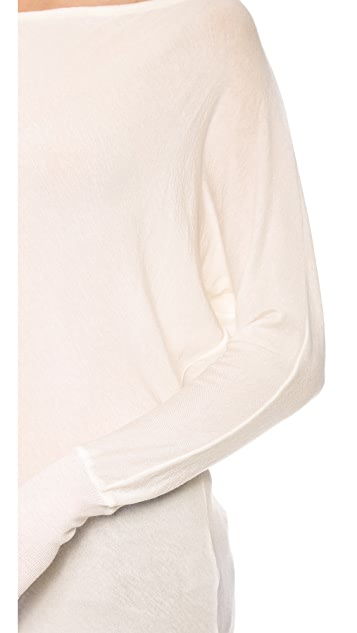 AIR by alice + olivia Boat Neck Slouchy Tee