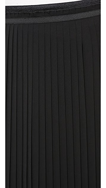 AIR by alice + olivia Pleated Paper Bag Waist Skirt