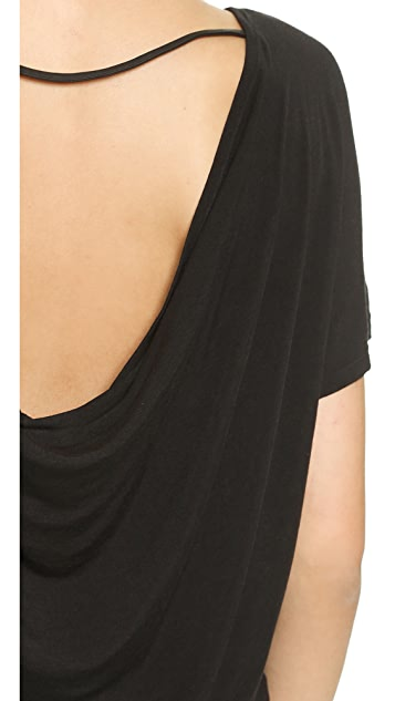 AIR by alice + olivia Cowl Back Top