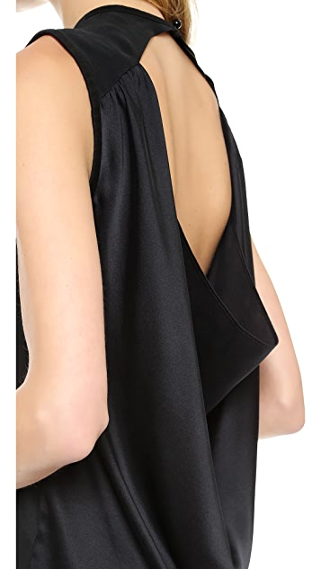 AIR by alice + olivia Open Back Cowl Tank