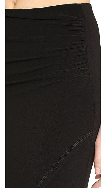 AIR by alice + olivia High Slit Maxi Skirt