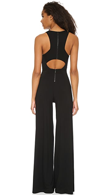 AIR by alice + olivia Judee Racer Back Jumpsuit