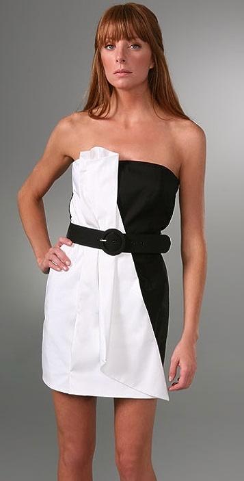 alice + olivia Colorblock Fan Dress