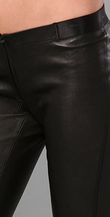 alice + olivia Leather Leggings with Zipper