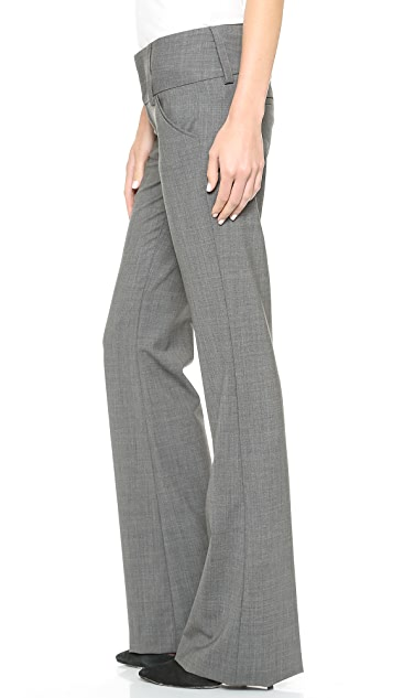 alice + olivia Olivia Boot Cut Pants with Wide Waistband