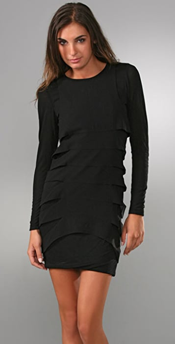 alice + olivia Layered Cutout Dress