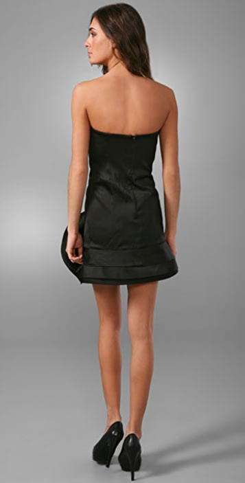 alice + olivia Bustier Dress with Sculptural Skirt