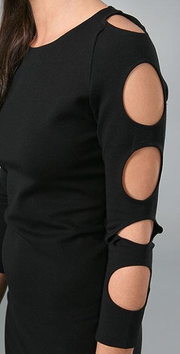 alice + olivia Back Zip Cutout Sleeve Dress