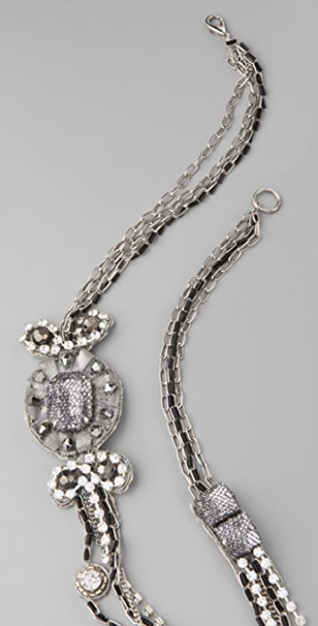 alice + olivia Long Crystal Chain Necklace