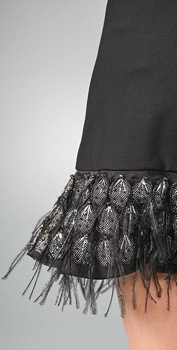 alice + olivia Feather Skirt