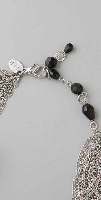 alice + olivia Erickson Beamon for Alice + Olivia Leather Rose Chain Necklace