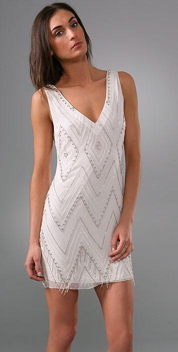 alice + olivia Clara '20s Bugle Beaded Dress