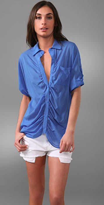alice + olivia Parachute Button Down Shirt