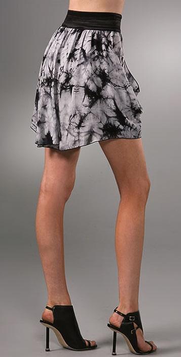 alice + olivia Drape Skirt with Elastic Waist