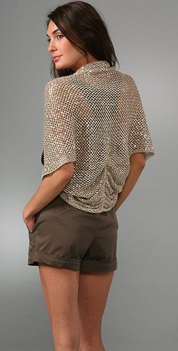 alice + olivia Brianna Beaded Crochet Shrug