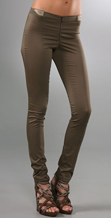 alice + olivia Front Zip Legging Pants