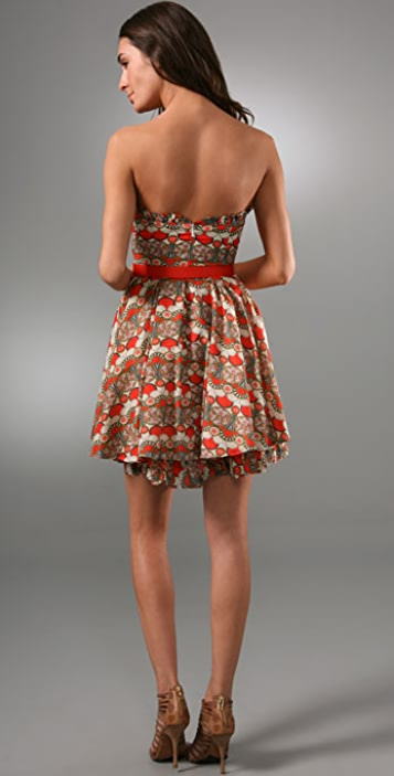 alice + olivia Savannah Art Deco Dress