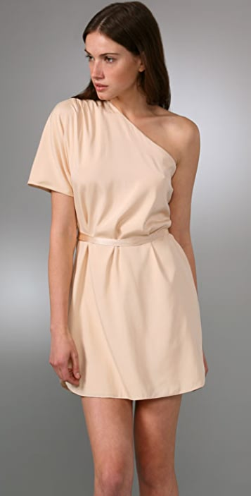 alice + olivia Kiera One Shoulder Dolman Dress