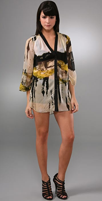 alice + olivia Smith Splatter Blouse