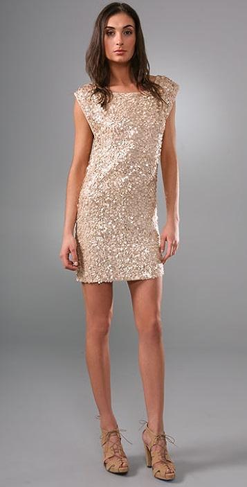 alice + olivia Casey Cluster Sequin Dress